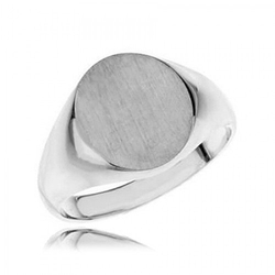 Gem Affair - Oval Brushed Signet Ring