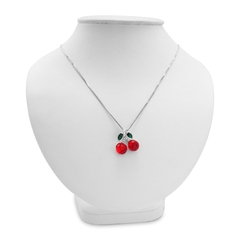 Amanda Rose Collection - Red Cherries Pendant-Necklace