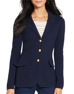 Lauren Ralph Lauren  - Cotton Sweater Blazer