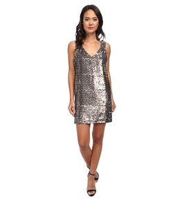 Sam Edelman -  V-Neck Sequin Dress