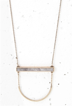 Forever21 - Faux Stone Bar Necklace