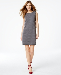 Studio M  - Sleeveless Textured Knit Dress