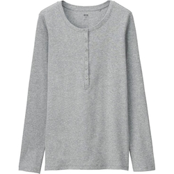 Uniqlo - Henley Long Sleeve T-Shirt