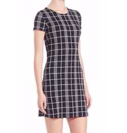 Theory  - Branteen Plaid Shift Dress