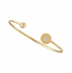 Sarah Chloe - Ball & Pave Diamond Initial Bracelet