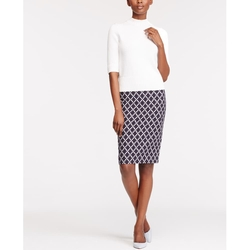 Tile Jacquard Pencil Skirt $89$49.88 - Tile Jacquard Pencil Skirt