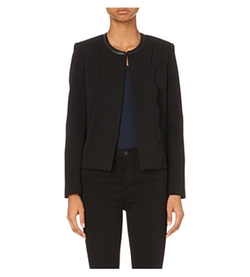 Claudie Pierlot - Vanillebis Leather- Trim Jacket