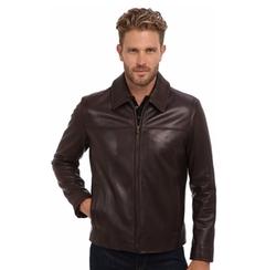 Cole Haan - Smooth Lamb Shirt Collar Jacket