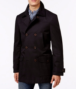 Lauren Ralph Lauren - Latrell Black Double Breasted Rain Coat