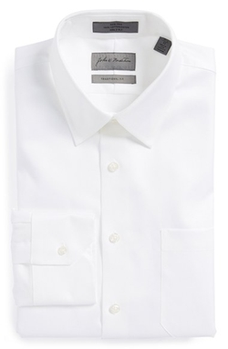 John W. Nordstrom - Traditional Fit Non-Iron Houndstooth Dress Shirt
