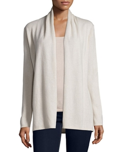 Neiman Marcus Cashmere Collection - Modern Open Cashmere Cardigan