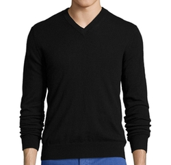 Harrison - Cashmere Knit V-Neck Sweater
