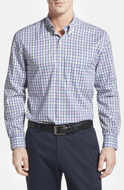 Cutter & Buck - Classic Fit Plaid Sport Shirt