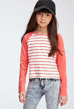 Forever21 - Boxy Striped Raglan Tee