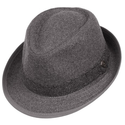 Dorfman Pacific - Herringbone & Solid Fedora At