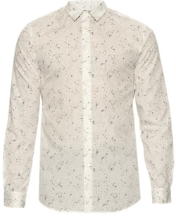 A.P.C. - Speckled-Print Button-Cuff Cotton Shirt