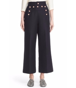 Marc Jacobs - Wool & Silk Crop Sailor Pants