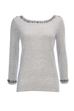 Wallis - Embellished Neck And Cuff Jumper