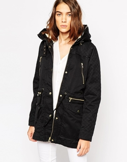Vero Moda - Parka Jacket With Quilted Sleeves