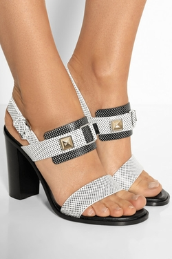 Proenza Schouler  - Lizard-effect leather sandals
