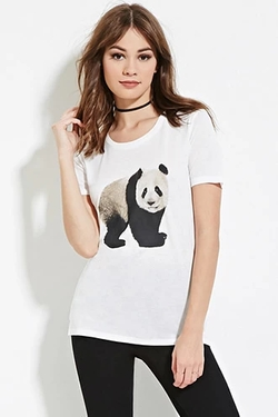 Forever 21 - Panda Graphic Tee