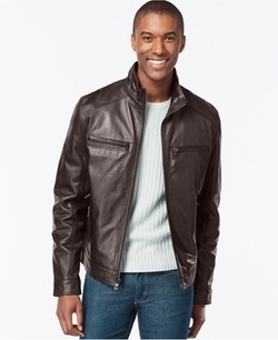 Michael Kors  - Michael Hipster Leather Jacket