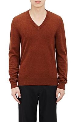 Maison Margiela - Elbow Patch V-Neck Sweater