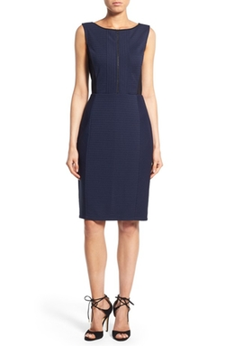 Halogen - Zip Front Sleeveless Sheath Dress