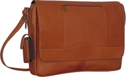 David King  - Leather Flap Messenger Bag