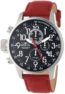 Invicta - Steel And Burgundy Rifle Watch
