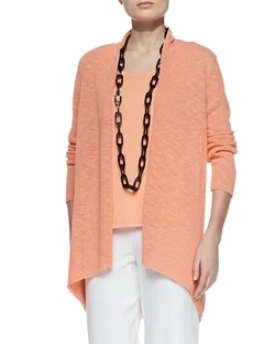 Eileen Fisher - Melange Linen-Blend Cardigan
