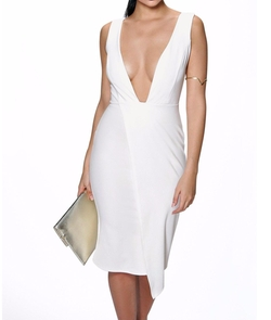 Boohoo Night - Mya Plunge Neck Asymmetric Midi Dress