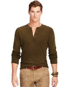 Polo Ralph Lauren  - Textured Cotton Henley Shirt