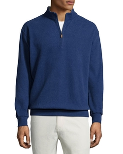 Peter Millar - Melange Fleece Quarter-Zip Sweater