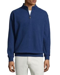 Peter Millar - Melange Fleece Quarter-Zip Sweater