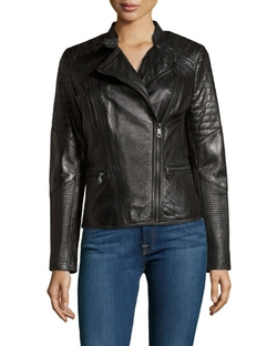Marc By Andrew Marc New York - Mae Quilted Leather Moto Jacket