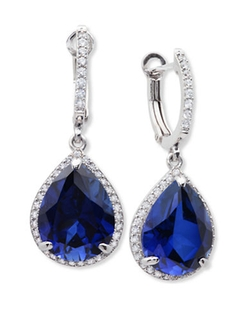 Crislu - Sapphire Drop Earrings