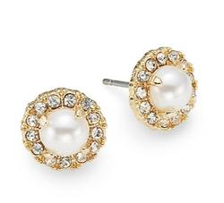Cara - Faux Pearl Stud Earrings