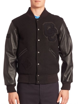Opening Ceremony  - Exclusive Blackout Varsity Jacket