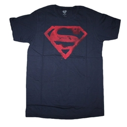 Superman, Dc Comics, Trevco - Superman Paint Logo Tee