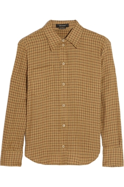 Isabel Marant  - Dully Checked Linen And Cotton-Blend Shirt