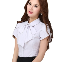 Yanggu Town - Short Sleeve Bow Blouse