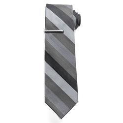 Apt. 9 - Sapphire Stripe Tie & Tie Bar - Men