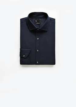 Mango Outlet - Slim-Fit Tailored Check Textured Shirt