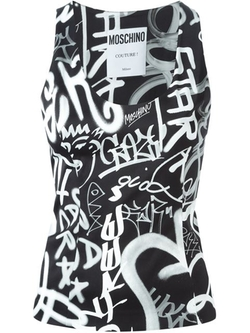 Moschino - Graffiti Print Tank Top