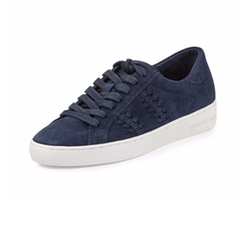 Michael Michael Kors - Stevie Woven Suede Low-Top Sneakers