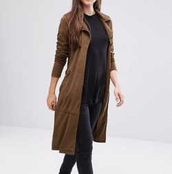 Only Jennifer - GD Faux Suede Trench Coat