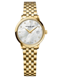 Raymond Weil  - Toccata Goldtone And Diamond Watch