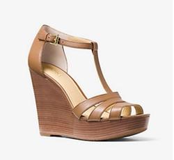 Michael Michael Kors - Sable Leather Wedge Sandals