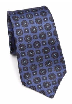 Kiton  - Geometric Medallion Printed Tie